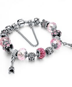Friendship Charm Bracelet Crystal Beads